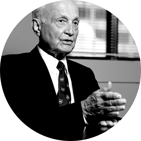 Sir John Templeton giving speech