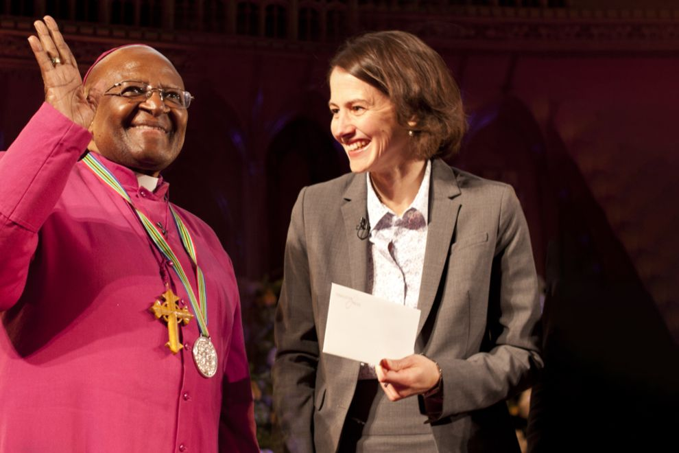 Archbishop Desmond Tutu at the Templeton Prize Ceremony